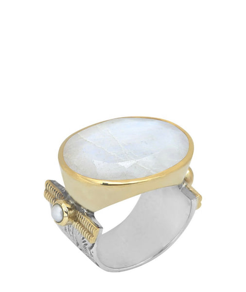 large moonstone ring available at the white place, orange nsw