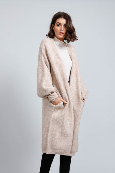 maison coat in oatmeal - free shipping