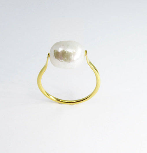gold pearl ring available at white place, orange nsw