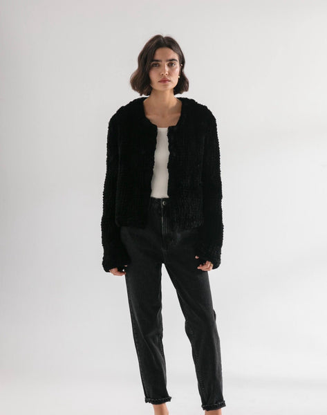 milly black fur coat - available at the white place, orange nsw