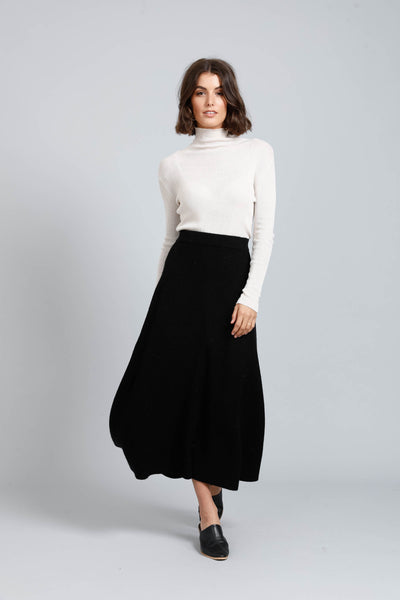 black wool skirt - free shipping