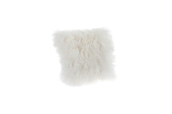 lambswool cushion white
