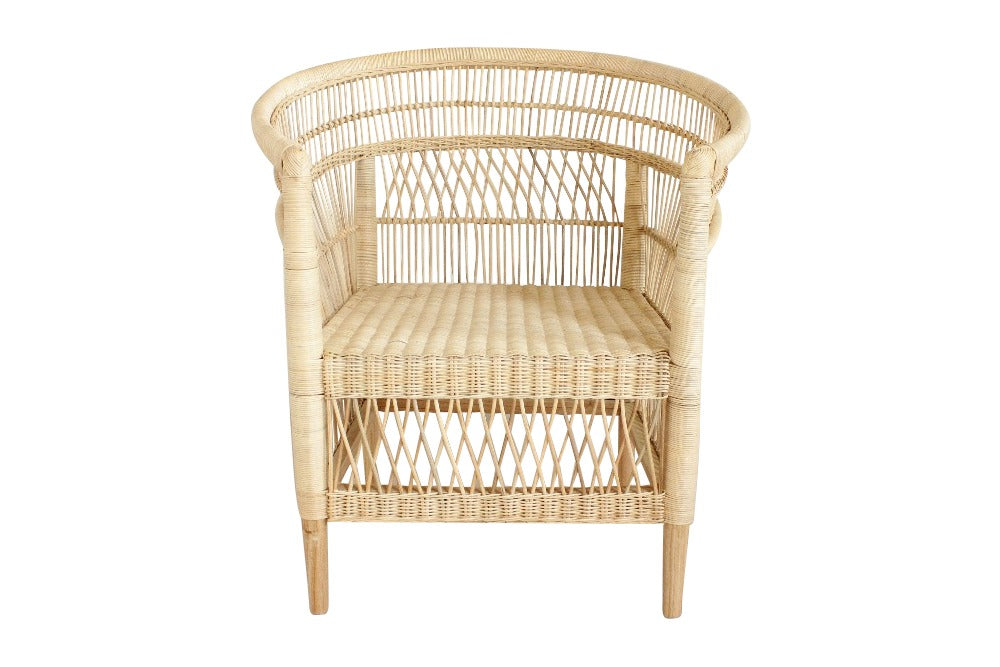 malawi natural armchairs available for hire from the white place lifestyle & events, orange nsw