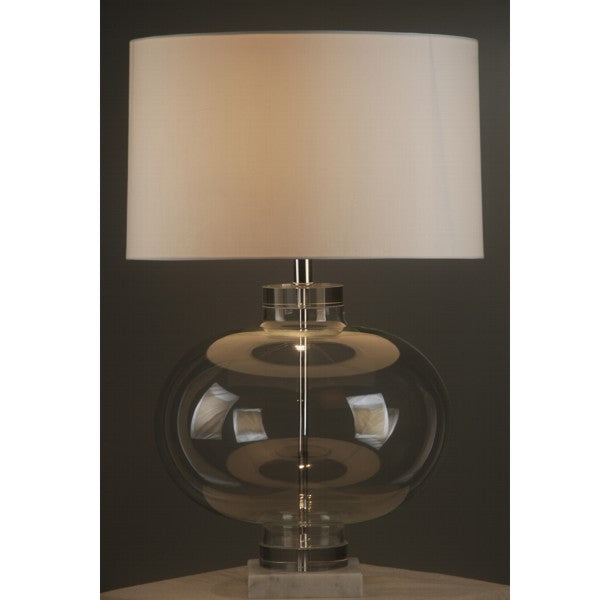 Large glass lamp with marble base