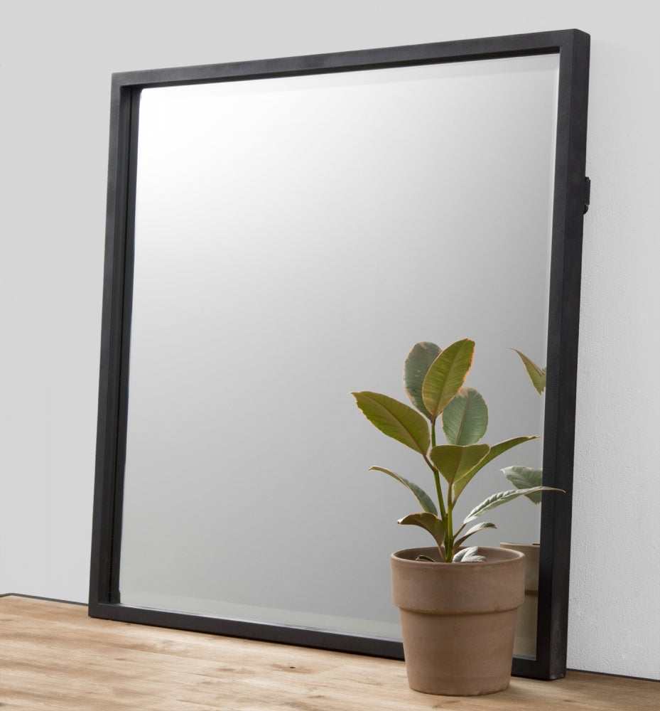 onyx square mirror - available at the white place, orange nsw