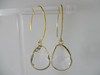 clear quartz earring - at the white place, orange