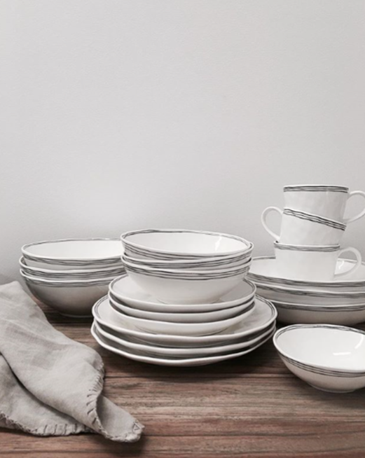 kaspian dinnerware from papaya available to buy from the white place