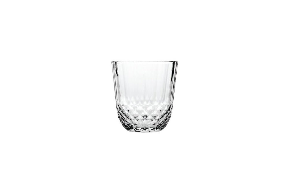 crystal cut water tumbler available for hire.  add matching crystal cut champagne and wine glass for table setting at weddings, parties and events