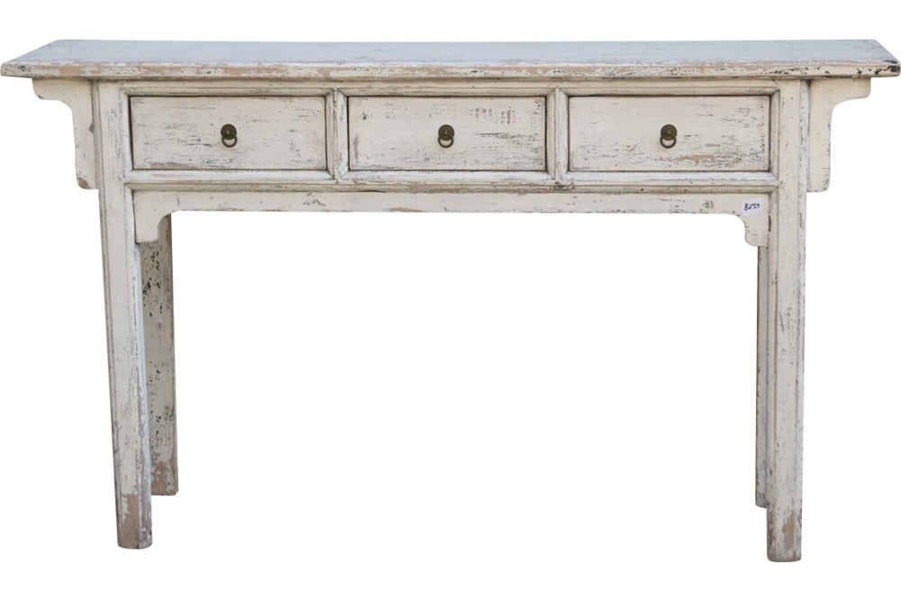 console with 3 drawers 163cm l x 38cm w