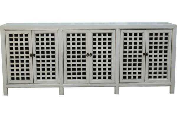 six door white sideboard