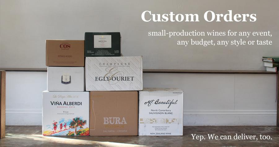We can coordinate a custom order for any event, any size, any budget, any style or taste preference.
