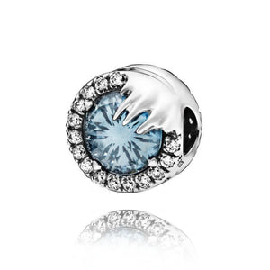 Frozen Snowlflake 925 Sterling Silver Beads Charms will fit Original Pandora and Chamilia - Gifts Galore Store