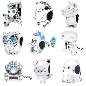 Buddy Bead Charms Sterling Silver (925) can also fit Pandora and Chamilia Bracelets - Gifts Galore Store