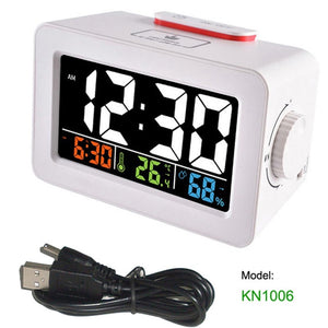 Digital Alarm Clock with Thermometer Hygrometer Humidity Temperature Phone Charger - Gifts Galore Store