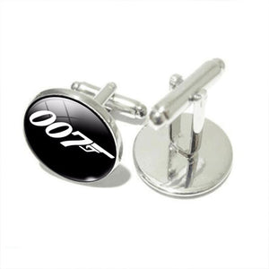 James Bond 007 Silver Plated Cuff links For Mens - Gifts Galore Store