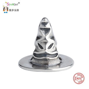 Sorting hat charm 925 sterling silver beads Fits original Pandora and chamilia - Gifts Galore Store