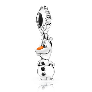 Olaf 925 Sterling Silver Beads Charms will fit Original Pandora and Chamilia - Gifts Galore Store