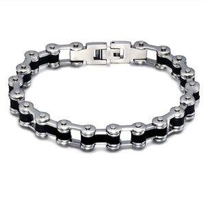 Men's Motor Bike Chain Motorcycle Chain Bracelet Bangle Stainless Steel Jeweller - Gifts Galore Store