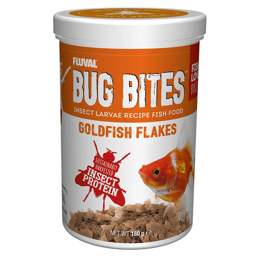 Fluval Bug Bites Goldfish Flakes Fish Food