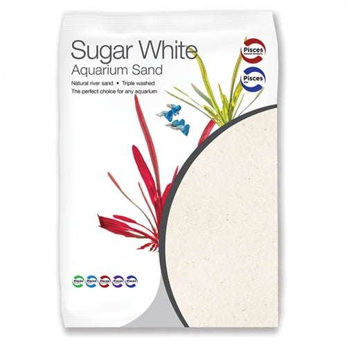 Pisces Sugar White Quartz Sand 5kg