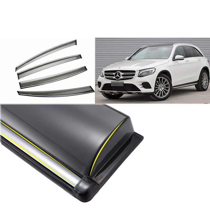 PREMIUM WEATHER SHIELD WINDOW VISORS TO SUIT MERCEDES BENZ GLC 2015+
