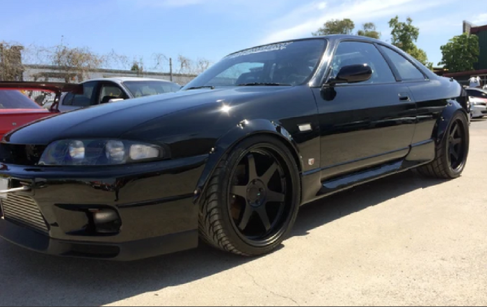 PLASTIC WHEEL FENDER FLARES TO SUIT NISSAN R33 SKYLINE GTS GTR