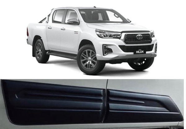 BODY DOOR CLADDING ARMOUR TO SUIT TOYOTA HILUX REVO 2015-2020