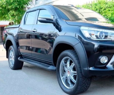 MATTE BLACK FLARES 6PC TRD STYLE TO SUIT TOYOTA HILUX REVO SR SR5 2015-2019