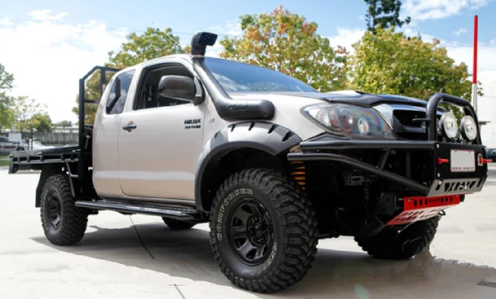 FRONT FENDER FLARES TO SUIT TOYOTA HILUX  SINGLE CAB 2011-2015 JUNGLE STYLE