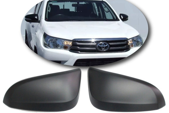 MIRROR COVERS TO SUIT TOYOTA HILUX REVO 2015-2019 DUALCAB 4X4 4X2