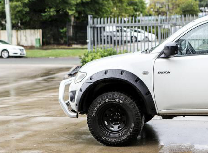 JUNGLE FENDER FLARES TO SUIT MITSUBISHI TRITON ML MN SERIES 2006-2015 6PC WRINKLE FINISH