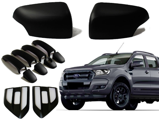 MIRROR / HANDLES & SIDE WIND COVERS TO SUIT FORD RANGER EVEREST PX1 MK2 2015-2018
