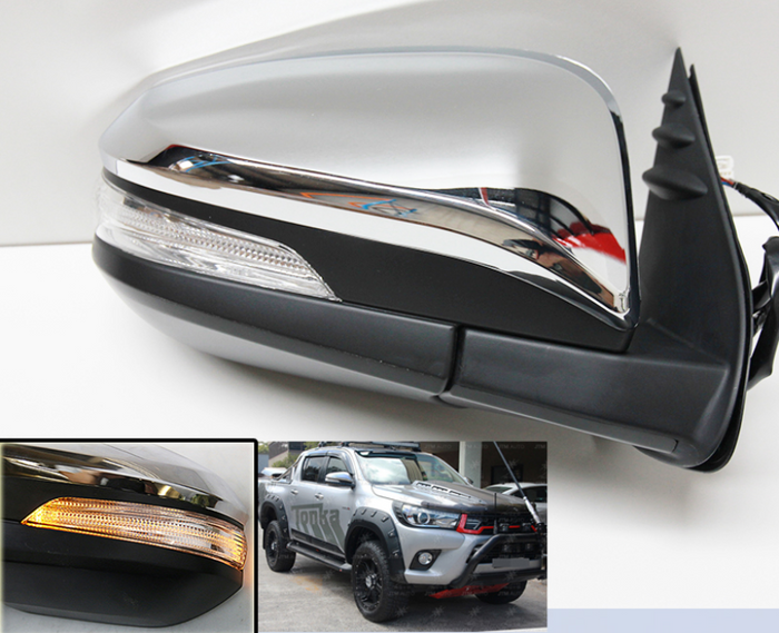 ELECTRIC POWERED MIRRORS WITH INDICATOR TO SUIT TOYOTA HILUX REVO 2015-2019
