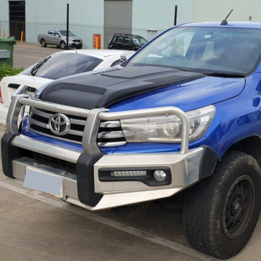 MATTE BLACK BONNET SCOOP TO SUIT TOYOTA HILUX REVO SR SR5 2015-2020