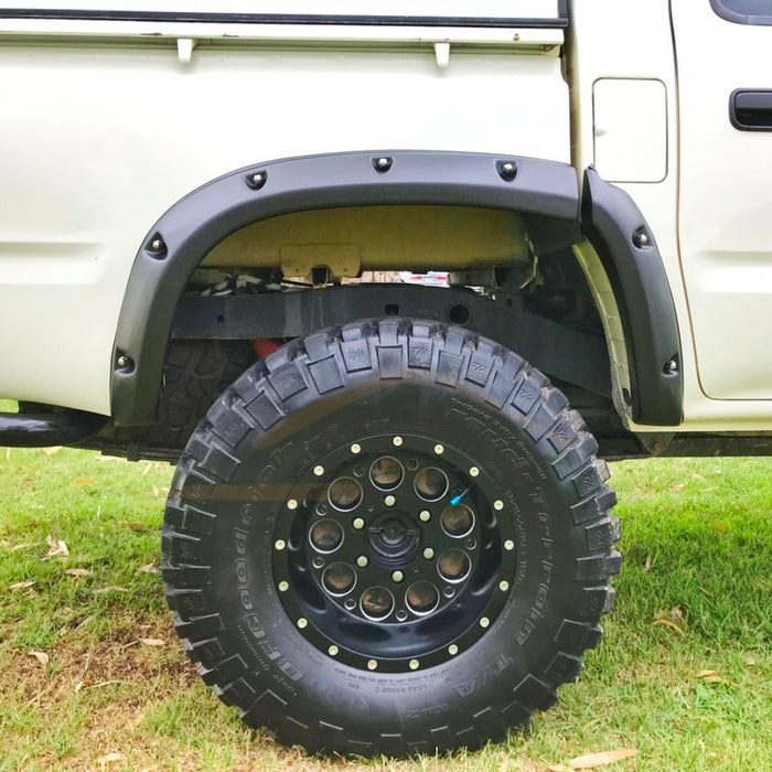TEXTURED BLACK JUNGLE FLARES TO SUIT TOYOTA HILUX 6PC 1998-2005