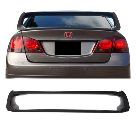 REAR WING BOOT SPOILER MUGEN RR STYLE SPEC TO SUIT HONDA CIVIC 2006-2012