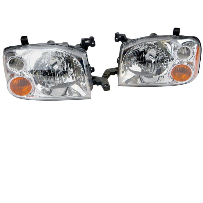 REPLACEMENT HEADLIGHTS TO SUIT NISSAN NAVARA D22 2001-2014 4X4 4WD