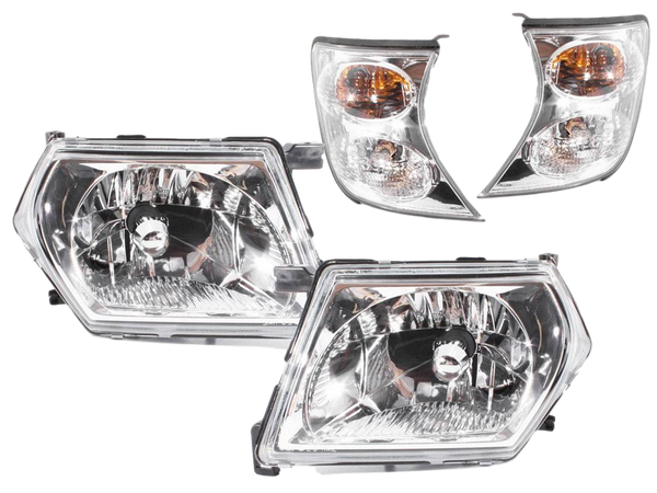 HEADLIGHT REPLACEMENTS TO SUIT NISSAN PATROL GU 1997-2007 4X4 4WD