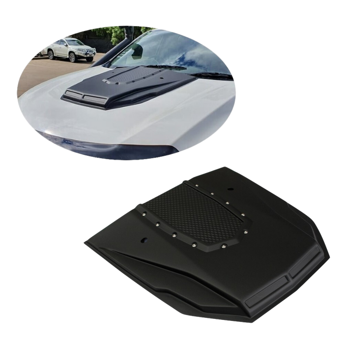 MATTE BLACK BONNET SCOOP W/STUDS TO SUIT MAZDA BT50 2012-2019 4X4 4WD