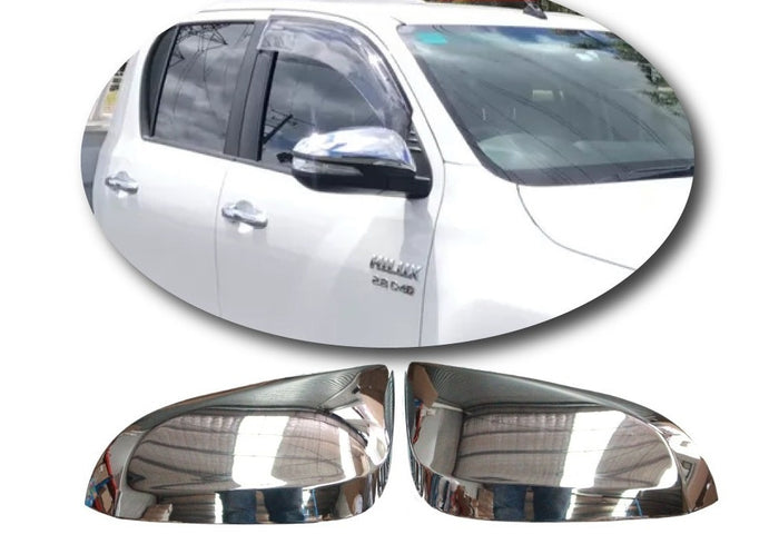 CHROME DOOR MIRROR COVERS TO SUIT TOYOTA HILUX REVO 2015-2019