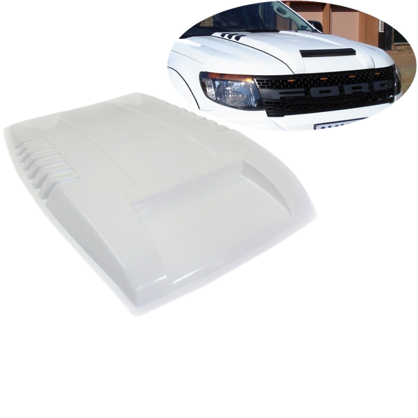GLOSS WHITE BONNET SCOOP TO SUIT FORD RANGER 2011-2015 PX1 MK1