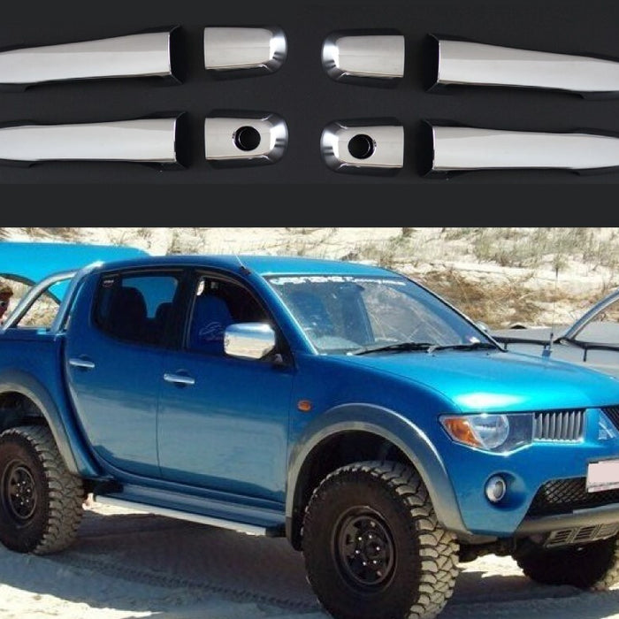 CHROME DOOR HANDLES TO SUIT MITSUBISHI TRITON ML MN 2006-2014 4X4