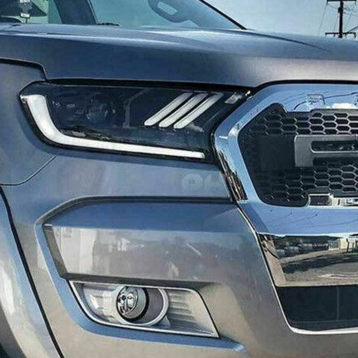 MUSTANG STYLE LED SEQUENTIAL HEADLIGHTS TO SUIT FORD RANGER PX2 MK2 2015-2018