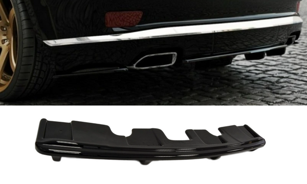 ABS GLOSS BLACK REAR BUMPER BAR SPLITTER TO SUIT JEEP GRAND CHEROKEE WK2 SUMMIT 14+