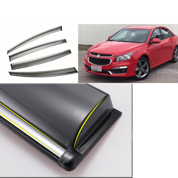 PREMIUM WEATHER SHIELD WINDOW VISORS TO SUIT HOLDEN CRUZE 2009-2018