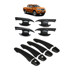 BLACK DOOR HANDLE & BOWL COVER COMBO TO SUIT NISSAN NP300 D23 2015-2019