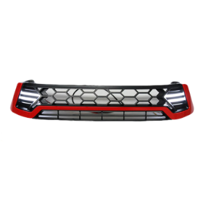 LED FRONT REPLACEMENT RED & BLACK GRILL TO SUIT TOYOTA HILUX REVO 2015-2017 SR SR5 WORKMATE