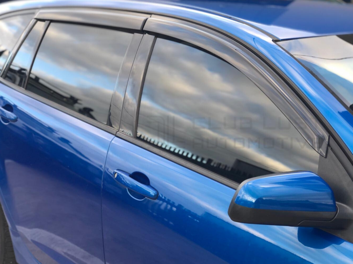 WEATHER SHIELD WINDOW VISORS TO SUIT HOLDEN COMMODORE VE WAGON 2006-2013
