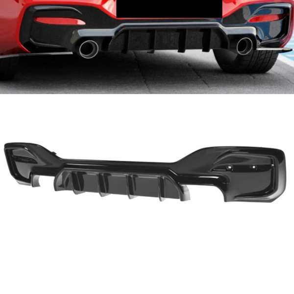 ABS GLOSS BLACK REAR BUMPER BAR DIFFUSER TO SUIT BMW 1M F20 2015+