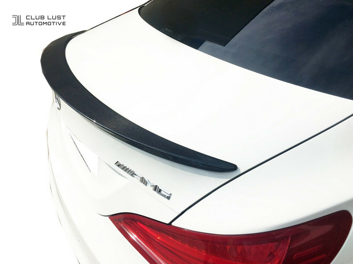 Carbon Boot Lip Spoiler Wing For Mercedes-Benz AMG CLA45 Style CLA C117 W117
